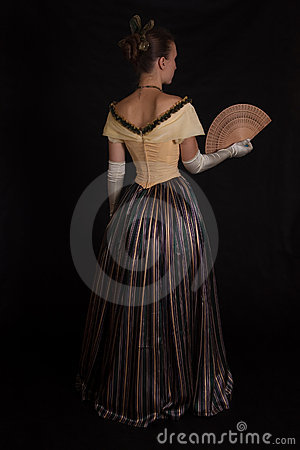 Free Girl In Nineteenth Century Dress Royalty Free Stock Photo - 17012705