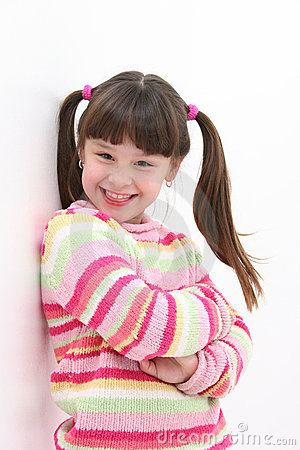 Free Girl In Pink Stripes Royalty Free Stock Photos - 64448