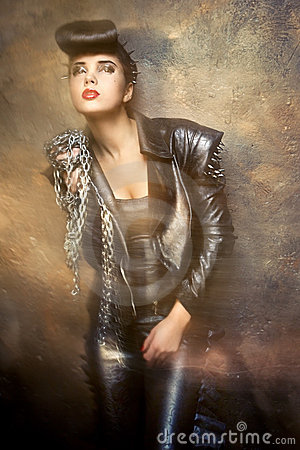 Free Girl In Punk Style Stock Images - 22825384