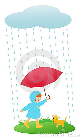Free Girl In Rain Royalty Free Stock Image - 14035406