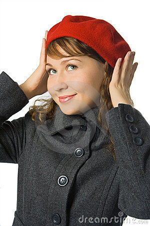 Free Girl In Red Beret Royalty Free Stock Photo - 3811105