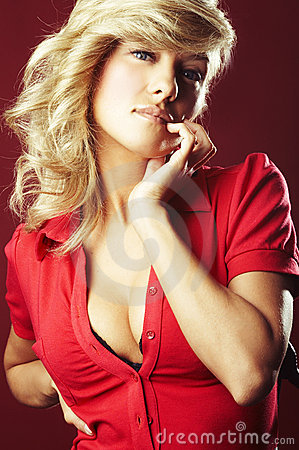 Free Girl In Red Blouse Royalty Free Stock Photo - 6805645