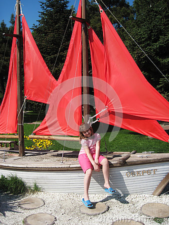 Free Girl In Sailboat Royalty Free Stock Photo - 74546975
