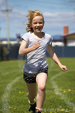 Free Girl In Sports Race Royalty Free Stock Images - 17019159