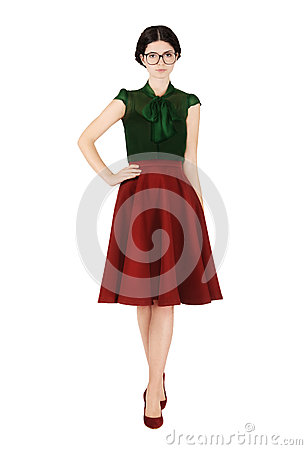 Free Girl In Stylish, Old-fashioned Clothes Royalty Free Stock Photography - 47409637
