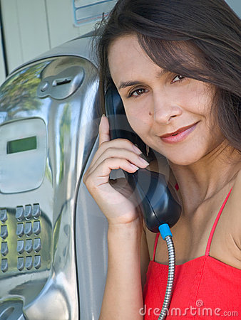 Free Girl In Telephone Booth Royalty Free Stock Photography - 8331987