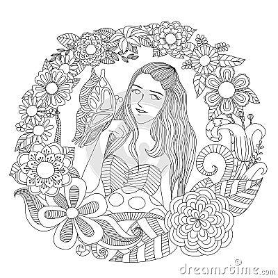 Free Girl In The Garden Stock Image - 60234461