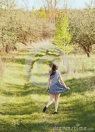 Free Girl In The Garden Royalty Free Stock Photography - 75858047