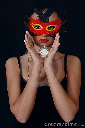Free Girl In The Mask Royalty Free Stock Photography - 1619657