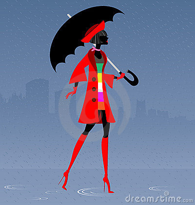 Free Girl In The Rain Royalty Free Stock Image - 22020626