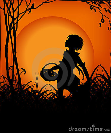 Free Girl In The Sunset 03 Stock Photos - 4685503