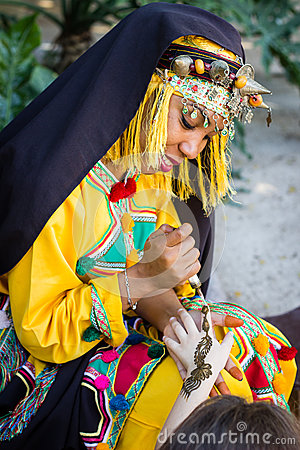 Free Girl In Traditionally Berber Clothes. Stock Photo - 80077940