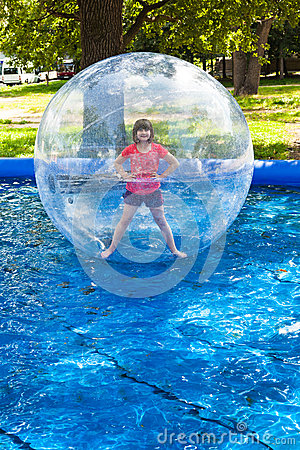 Free Girl In Water Ball Stock Photography - 33151792