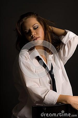 Free Girl In White Shirt Stock Photo - 14386070