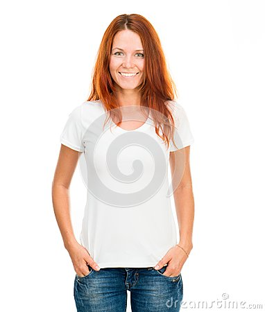 Free Girl In White T-shirt Stock Photo - 29732520
