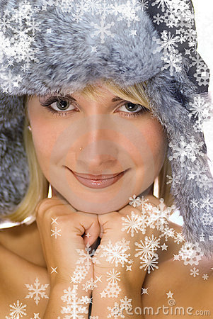 Free Girl In Winter Fur-cap Royalty Free Stock Photo - 3376565