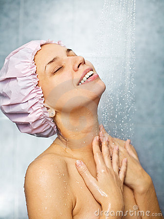 Free Girl Is In The Shower Stock Image - 11627941