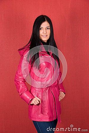 Girl at jacket