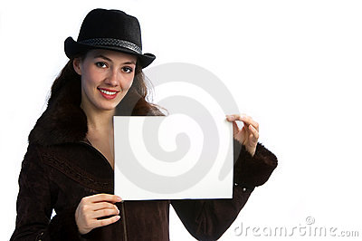 Girl with jacket and hat 1
