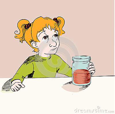 Girl with jam