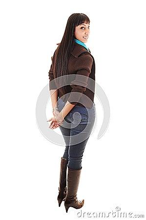Girl in jeans.