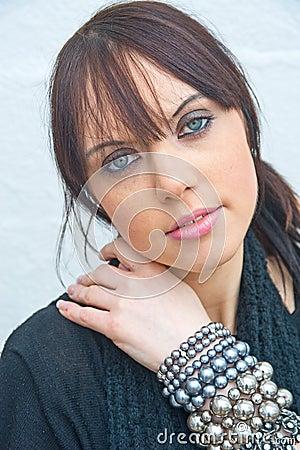 Girl with jewellery.