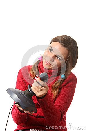 Girl with a joystick
