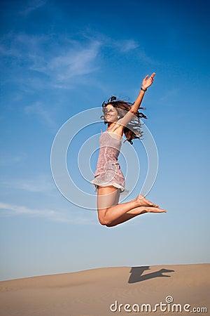 Girl jump high