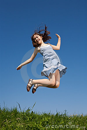 Free Girl Jumping Stock Image - 10187351
