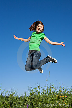Free Girl Jumping Outdoor Stock Photography - 10781122