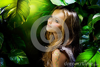 Girl in Jungle