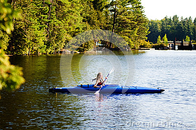 Girl in a kayak