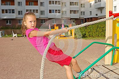 Girl keeps for a rope