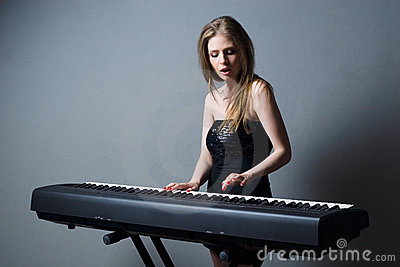 Girl with keyboard