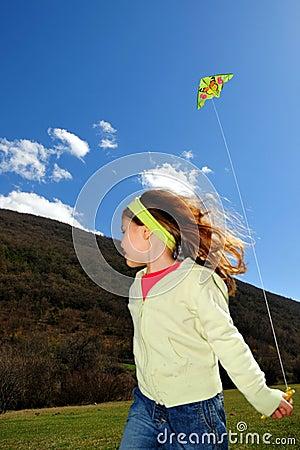 Girl and kite