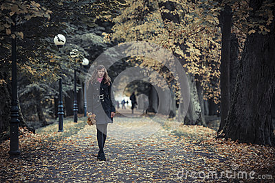 Girl with lanterns