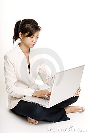 Girl With Laptop 4