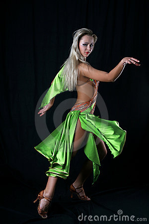 Girl latin dancer