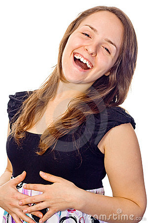 Free Girl Laughing Out Loud Royalty Free Stock Photography - 7101937