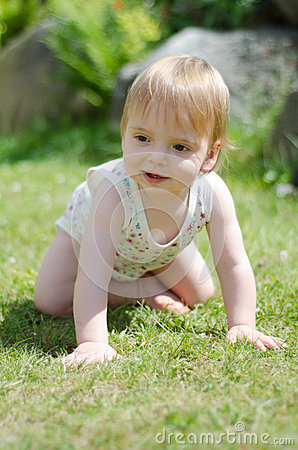 Girl On Lawn Stock Photos - Image: 25636023