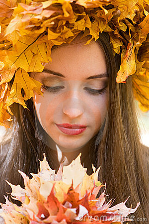 Girl with a Leaf Wreath