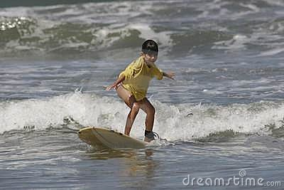 Girl Learning to Surf