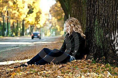 Girl in the leaves