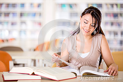 Girl at the library