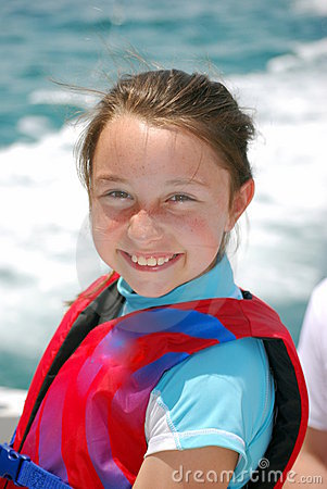 Girl with life vest