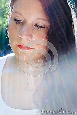 girl in light