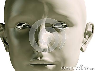 Girl lighting eyes