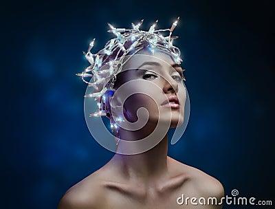 Girl in the lights