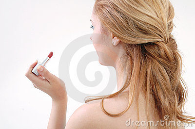 Girl with lip-stick