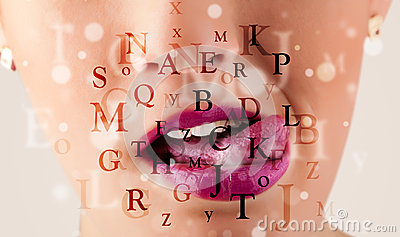 girl lips breathing fonts and characters close up